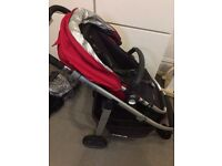 Uppababy Cruz 2015 Buggy Stroller with Carrycot and car adapters