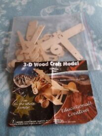 3D Wood Craft Model Bi-Plane AP204