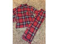 Girls or boys tartan pyjamas Age 4-5 Christmas Eve as new