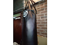 B2 Fitness 5ft Hanging Punch Bag and Bracket (Gym Boxing Training)