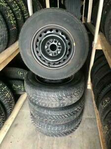 225 65R 16 GOODYEAR ULTRAGRIP WINTER SNOW TIRES & RIMS 5x127 BOLT 12/32NDS TREAD GREAT SHAPE DODGE CARAVAN CHRYSLER