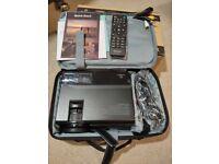 Brand new 2400 Lumen Mini Projector, Video Projector with Bonus Bag, Aluminum Tripod Projector Stand