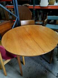 Vintage Mid Century Extending Table