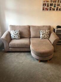 DFS 3 seater sofa & cuddle sofa - excellent condition