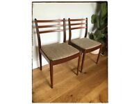 Retro G Plan teak chairs set of 4