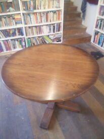 Solid oak circular dining table