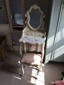 Small Dressing Table and Stool