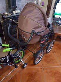 Retro classic style pram carry cot stroller car seat etc