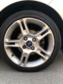 4 FORD FIESTA ZETEC S ALLOY WHEELS WITH TYRES FOR SALE