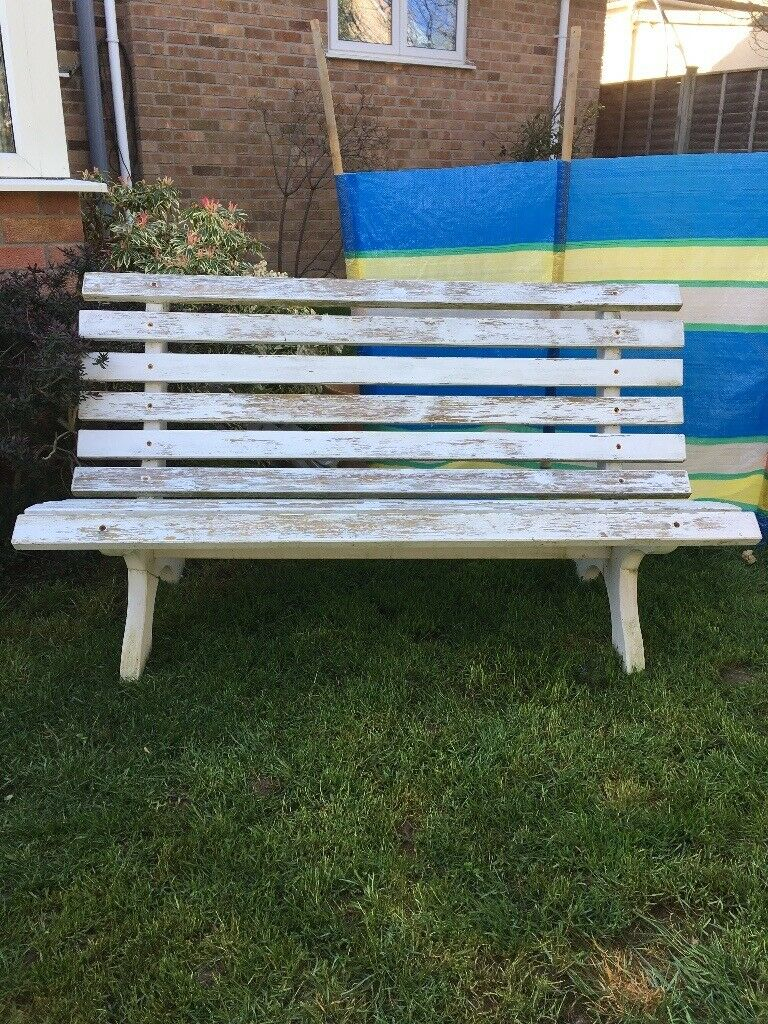 Painted garden bench taunton