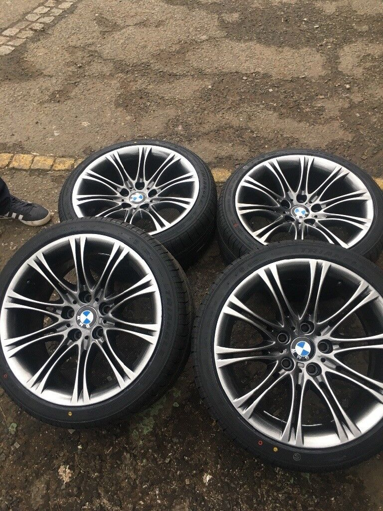 """Genuine BMW MV2 18"""" Alloy Wheels Refurbished In Limited Edition Black Sparkle - NEW TYRES AVAILABLE!"""