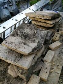 Easy to lift rubble in nice tidy squares