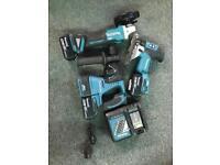 Brushless Makita power tool set Sds jigsaw grinder