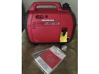 Brand new Honda EU20i Generator