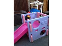 Kids garden climbing frame and slider(sold)