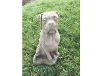 Buster the Boxer dog garden ornament