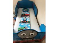 Thomas Tank Engine Bed and Pictures.