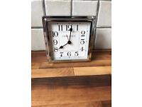 REDUCED Laura Ashley Silver Finish Mantle Clock