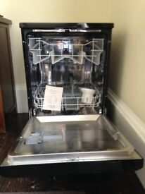 Electra Freestanding Black Dishwasher, only 6 months old.