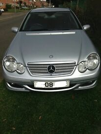 2008 Mercedes Benz C200, coupe, diesel, automatic, silver, low mileage