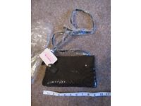 Black leather Clarke's hand bag - new