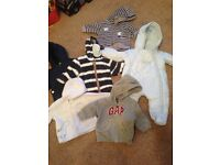 Bundle of baby boy winter 3-6 month clothes for sale