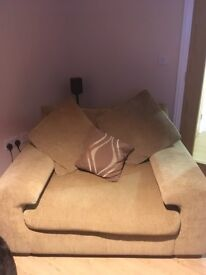 Large 2 seater sofa and large arm chair
