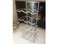 Chrome wine rack for fitted kitchen