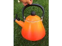 Orange le creuset kettle