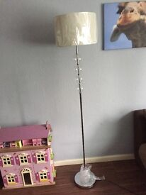 Brand new Inspire ivory and clear balls floor lamp