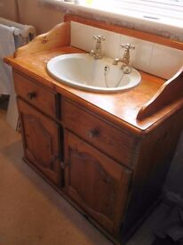 Vanity unit with basin suitable for upcycling
