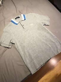 2nd hand grey fred perry polo
