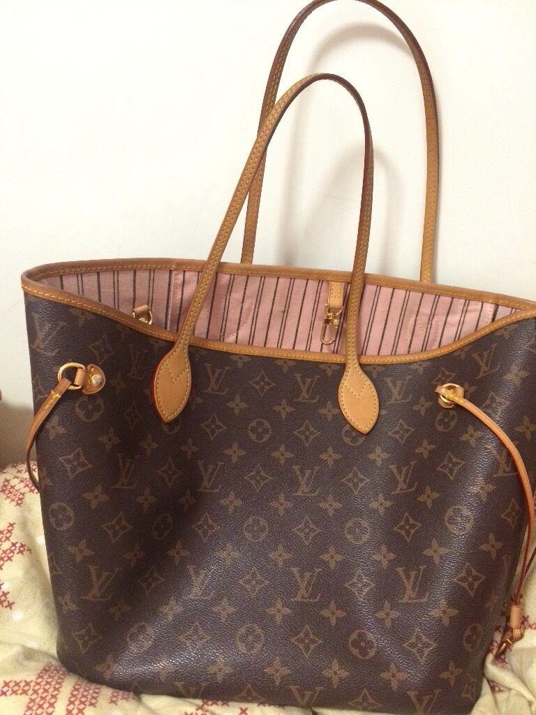 louis vuitton neverfull mm monogram. LV Louis Vuitton NEVERFULL MM Monogram Pink Handbag Tote Rose Ballerine Neverfull Mm I
