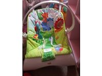 Fisher price vibrating baby bouncer vgc collection antrim