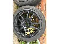 Set Of 205/40/17 Alloys with good tyres 4x100