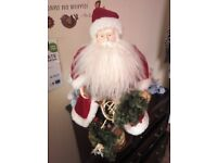 Father Christmas Doll and Vase