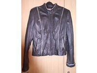 Women Leather Black Jacket