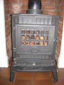 Multi fuel stove with boiler