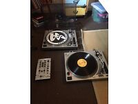 Set of KAM Turntables (x2) and Mixer for sale