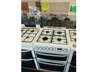 CANNON 60CM DUEL FUEL DOUBLE OVEN COOKER IN WHITE