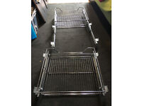 2 X Pull Out High Grade Stainless Steel Chrome Finished Baskets