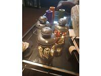 Three Christmas light up lanterns
