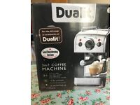 DUALIT 3 IN 1 COFFEE MACHINE GOOD AS NEW