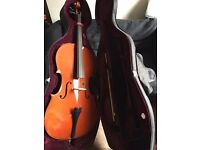 Brand new full sized cello (+case)