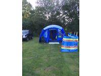 Vango Anteus 600 (6 man tent) carpet and camping kitchen