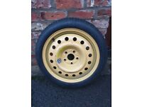 """Lexus Toyota IS300h IS2500 Space Saver Spare tyre wheel 17"""" T135/70D17"""