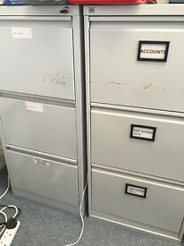 2 x metal filing cabinets