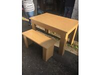Dining Table with Benches- Argos