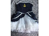 Fancy dress sailor outfit size-small