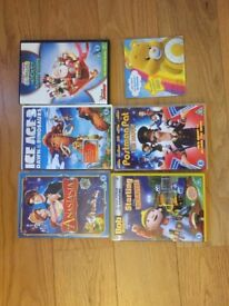 6 kids DVD's including Postman Pat, Bob the builder, Mickey Mouse